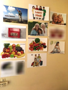 Vision portraying the goals for the year 2015. I picked up pictures from the internet and printed each on a postcard size photo paper. I choose to keep boards private, inside a cupboard or behind a door.